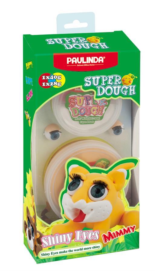 PAULINDA Маса для ліплення Super Dough Shiny Eyes Кіт Mimmy  глянцеві очі