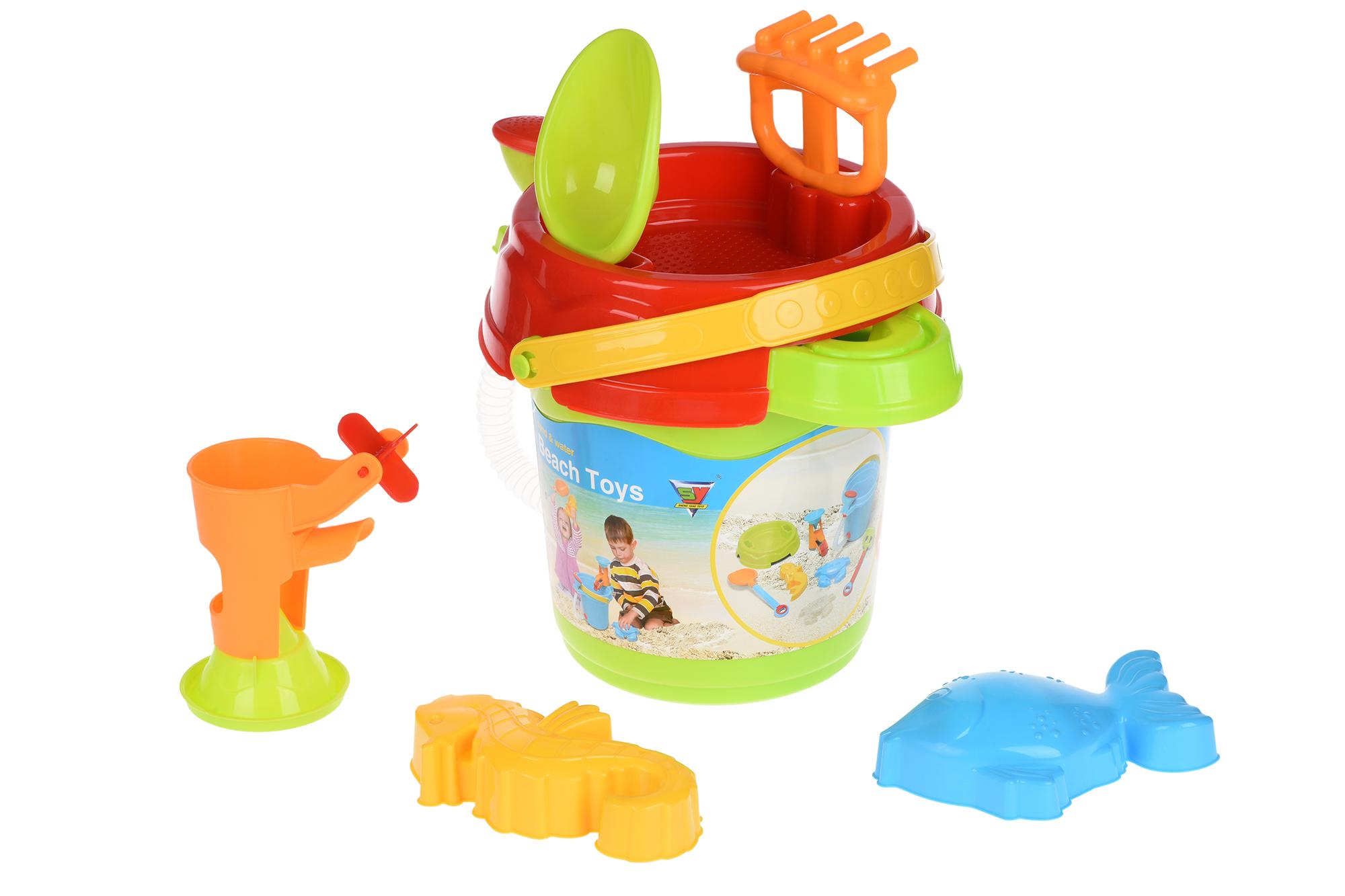 Same Toy Набір для гри з піском Відерце зелене (6 од.)