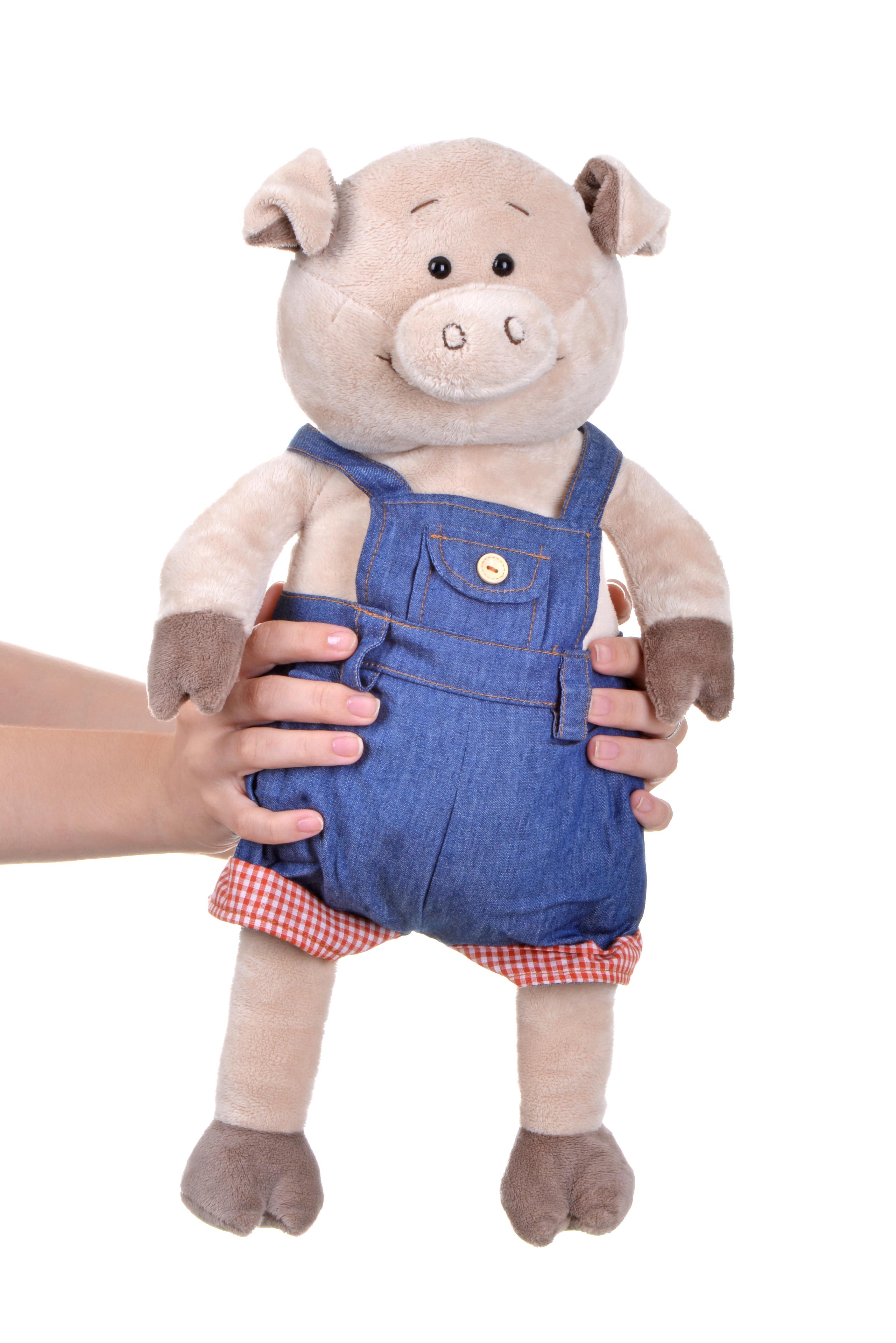 Same Toy Свинка в джинсовом комбинезоне (45 см)