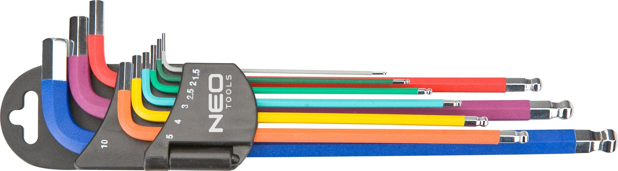 Neo Tools 09-512 Ключi шестиграннi, 1.5-10 мм, набiр 9 шт.*1 уп.