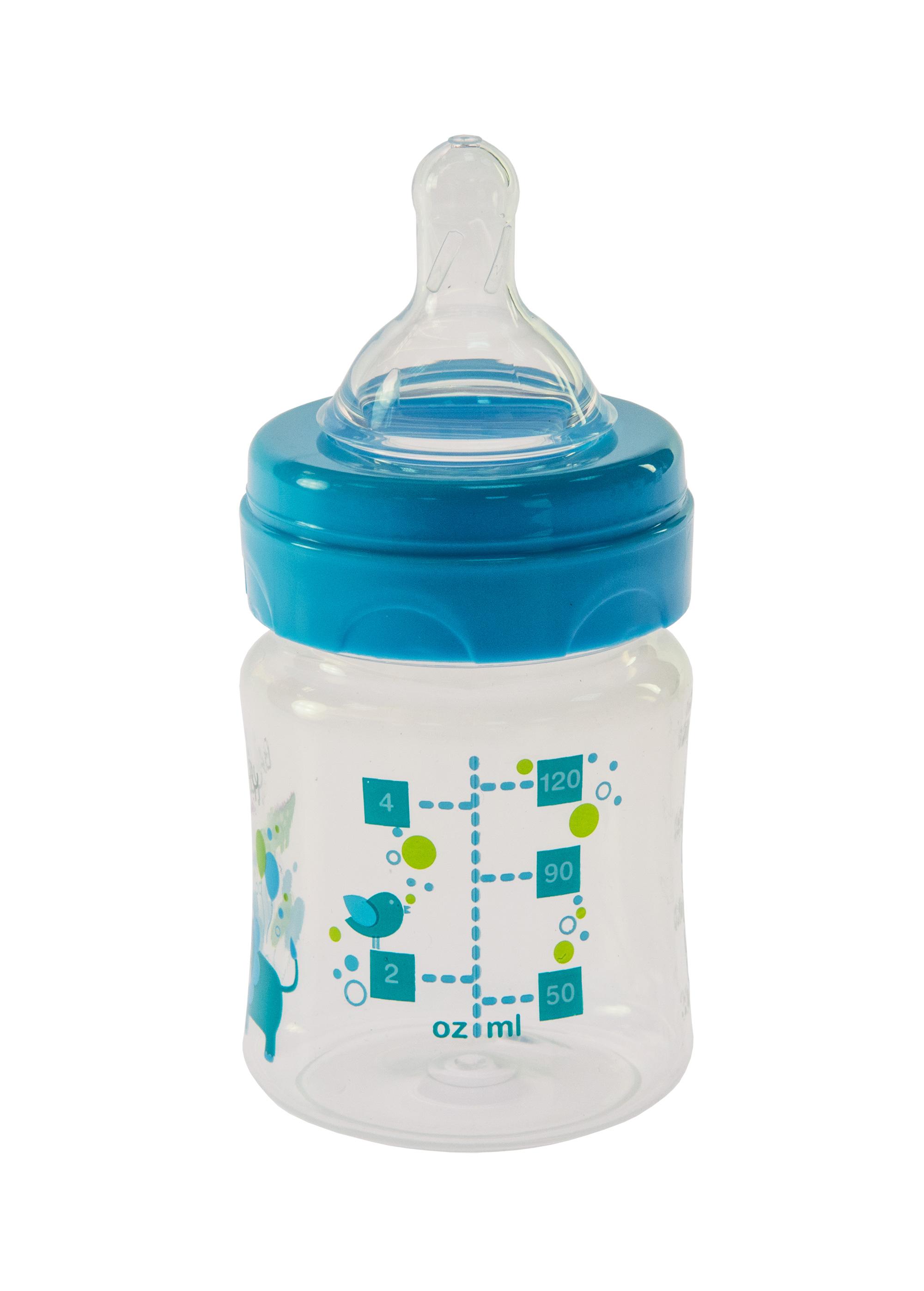 Bayby Бутылочка для кормления 120 мл 0м+ синяя
