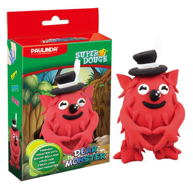 PAULINDA Маса для ліплення Super Dough Dear Monster червоний