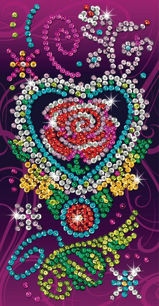 Sequin Art Набор для творчества PICTURE ART Craft Teen Rose