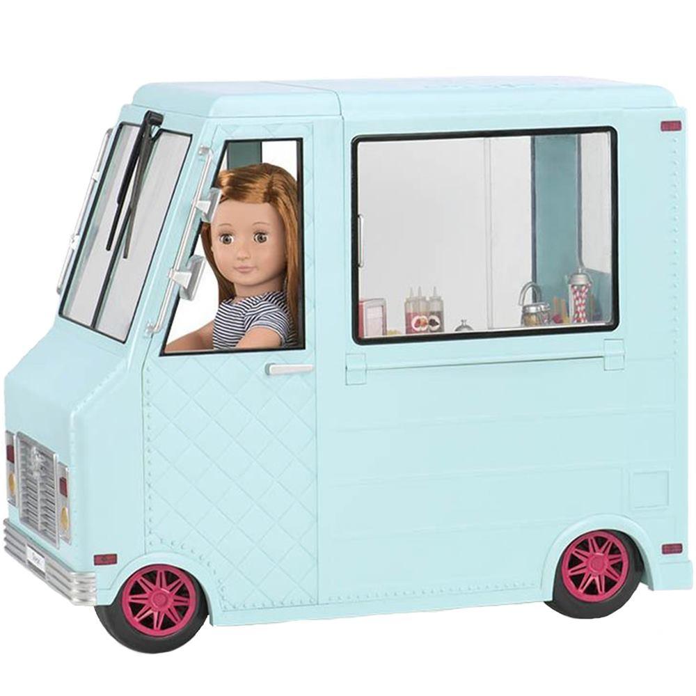 Our Generation Транспорт для кукол - Фургон с мороженым и аксессуарами