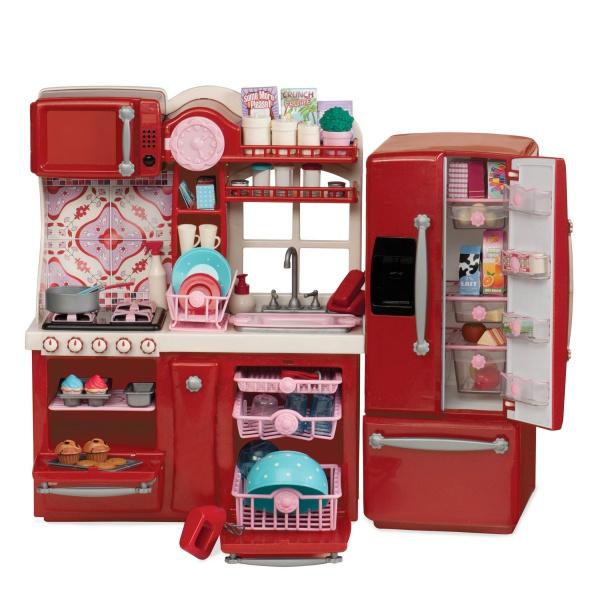 Our Generation Набор мебели - Кухня для гурманов, 94 аксессуара красная