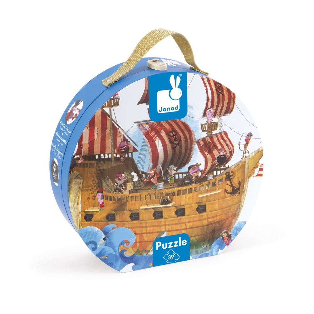 Janod Пазл-напольный Корабль пиратов