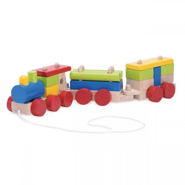Wonderworld Конструктор Поезд с веревочкой