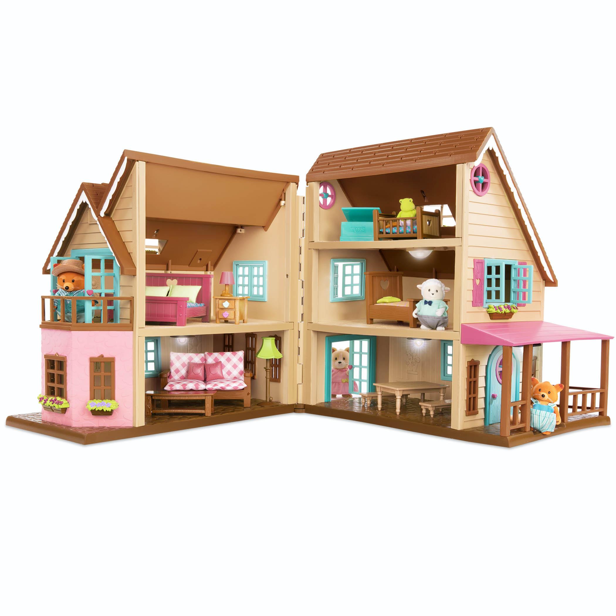Li`l Woodzeez Ігровий набір - Великий котеджний будинок