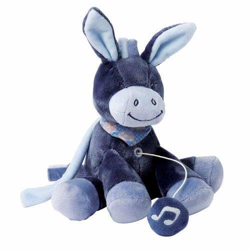 Nattou Мягкая игрушка с музыкой Ослик Алекс (21 см)