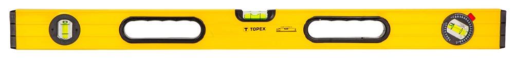 Topex 29C605 Рiвень алюмiнiєвий, тип 600, 120 см, 3 вiчка
