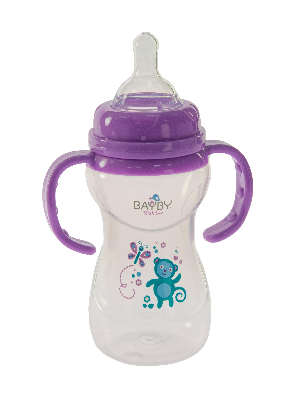 Bayby Бутылочка для кормления 240мл 6м+ фиолетовая
