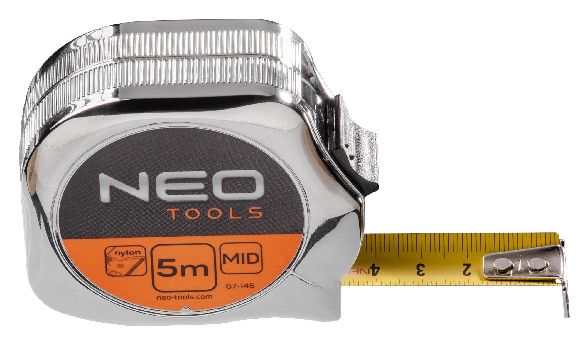 Neo Tools 67-145 Рулетка, сталева стрiчка 5 м x 19 мм