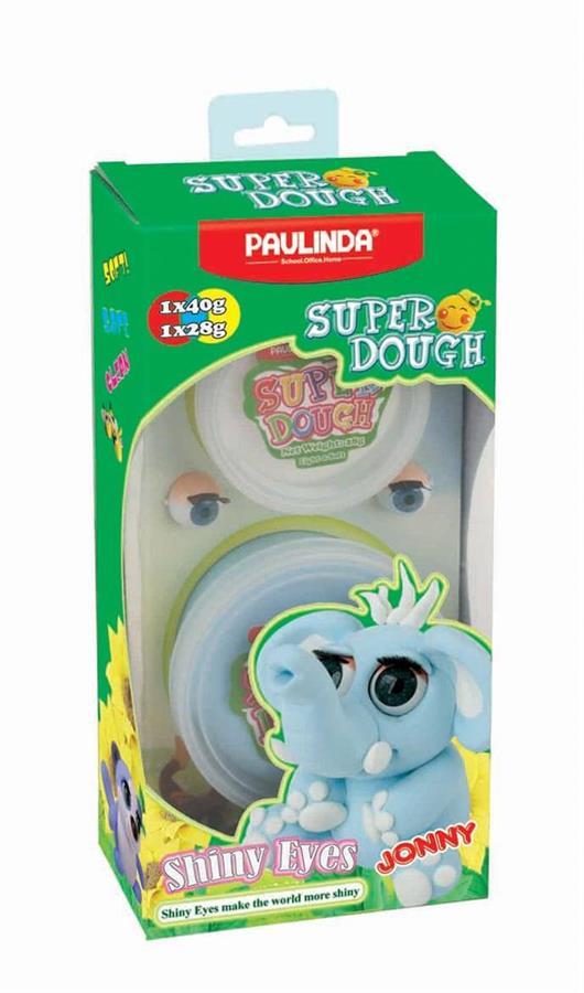 PAULINDA Масса для лепки Super Dough Shiny Eyes Слон Jonny глянцевые глаза