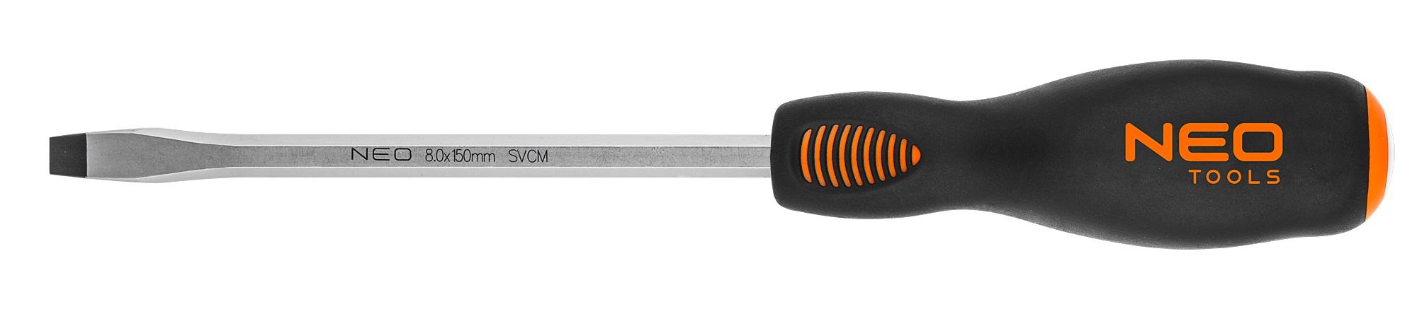 Neo Tools 04-020 Викрутка шлiцева ударна 8.0x150 мм, CrMo