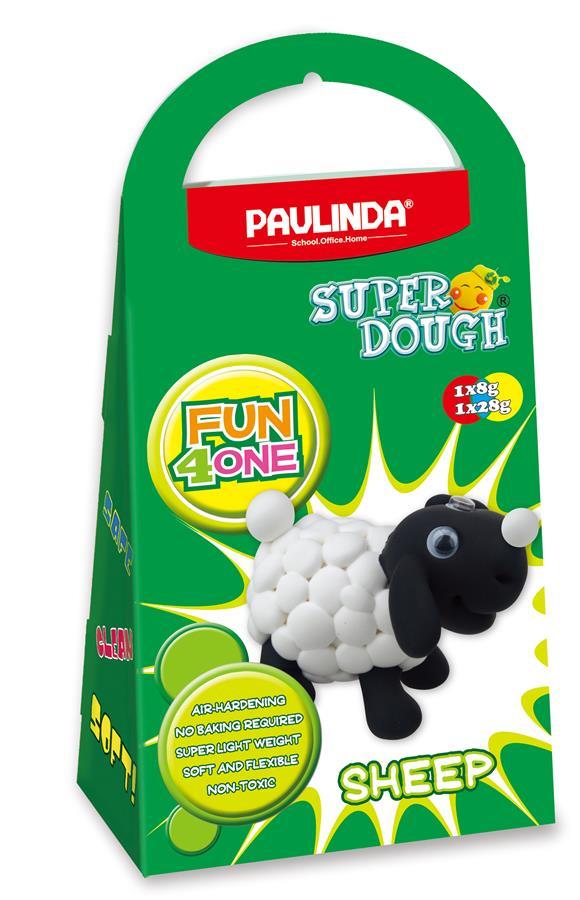 PAULINDA Масса для лепки Super Dough Fun4one Овечка (подвижные глаза)