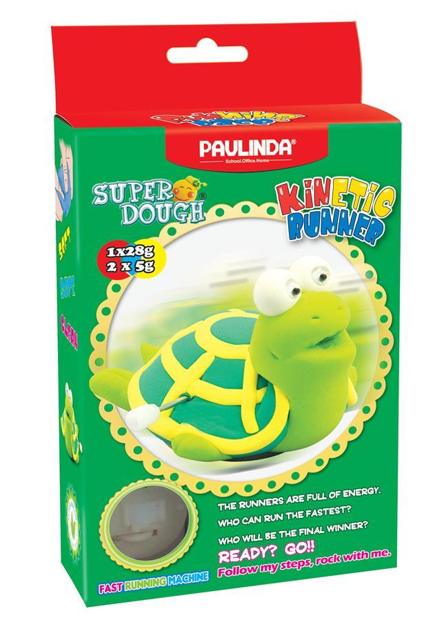 PAULINDA Маса для ліплення Super Dough Running Race Черепаха заводний механізм
