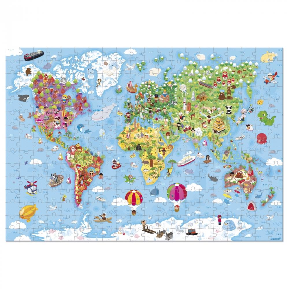 Janod Пазл Карта світу