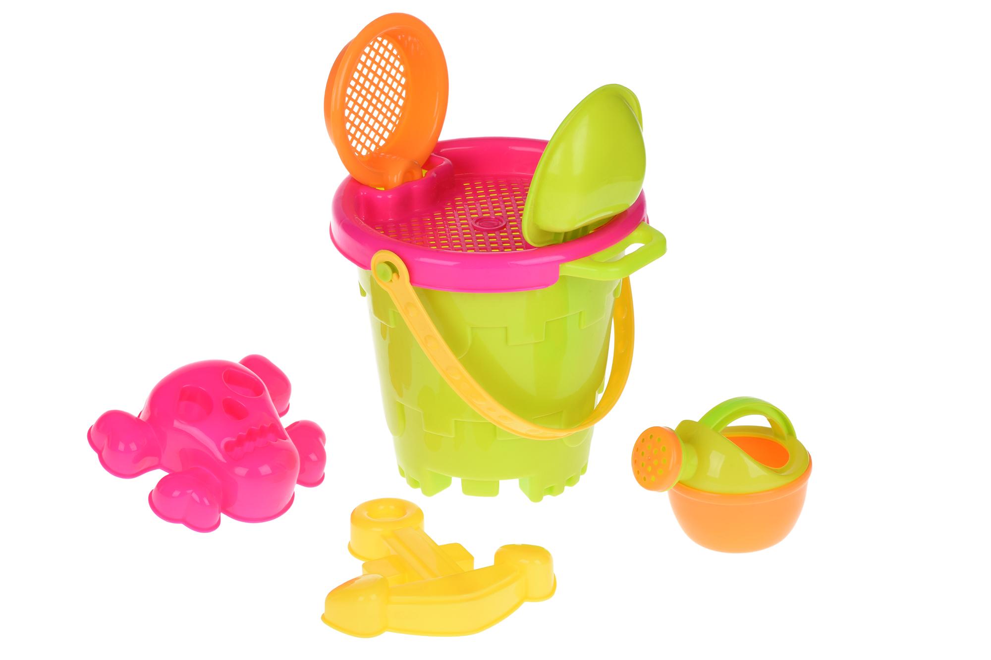 Same Toy Набор для игры с песком Ведерко зеленое (6 ед.)