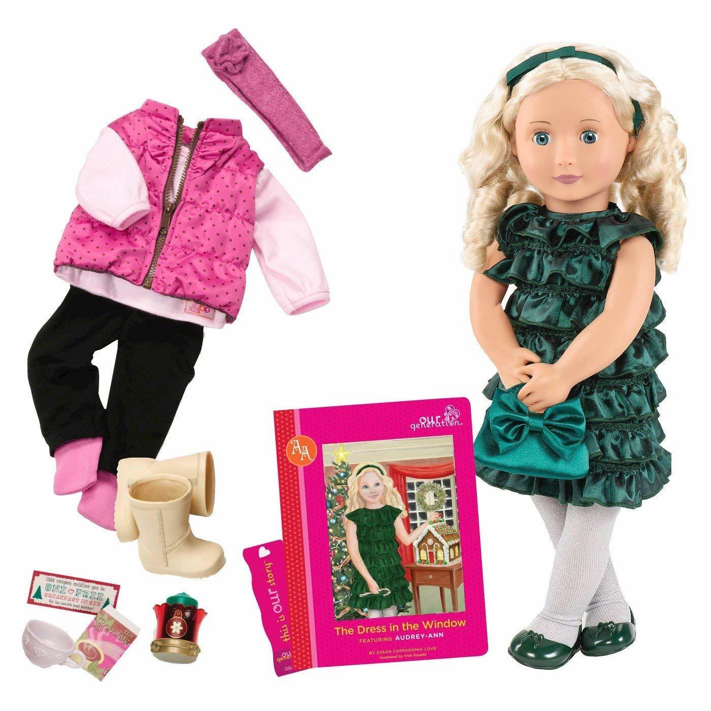 Our Generation Кукла DELUXE - Одри-Энн с книгой