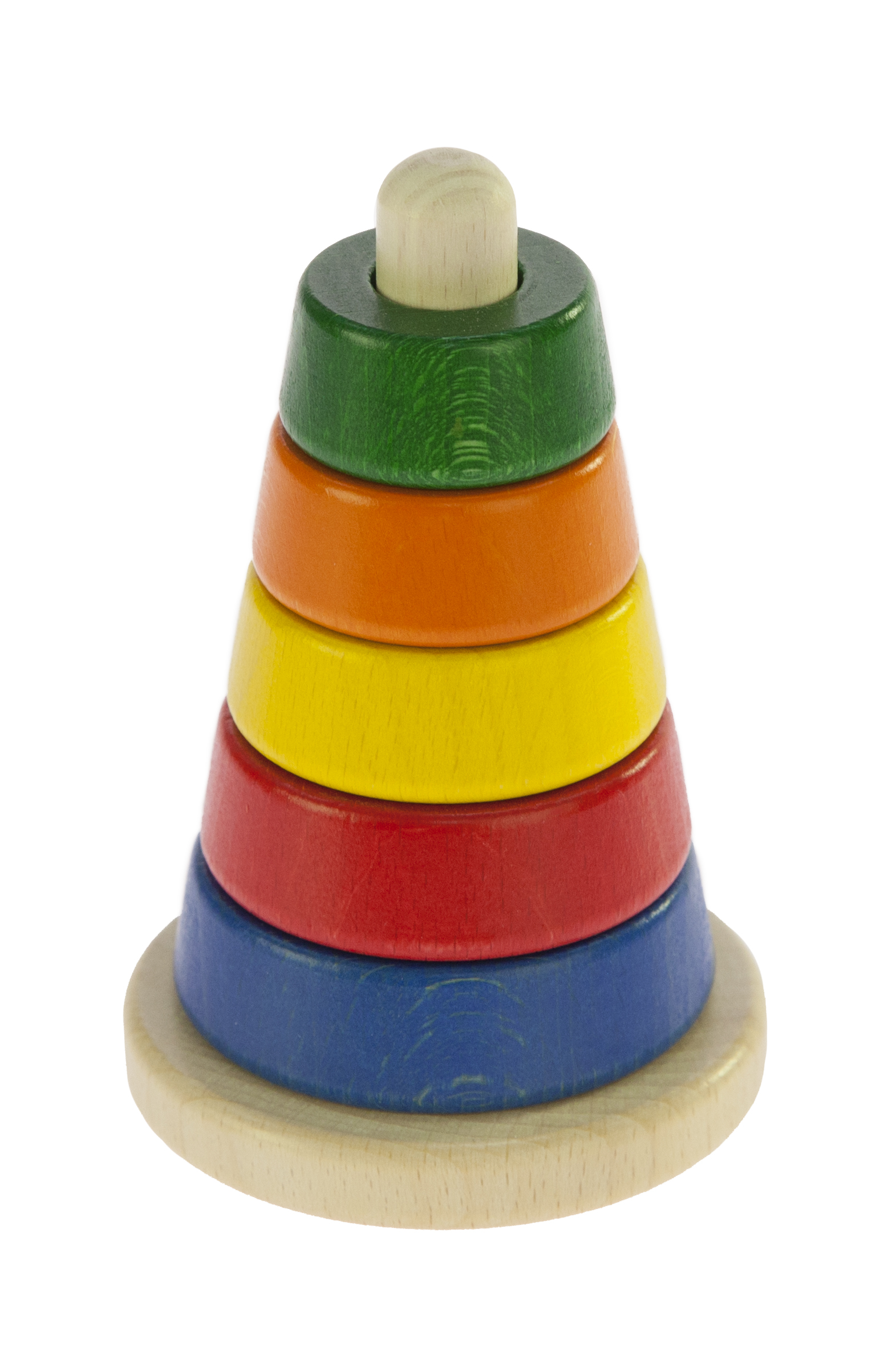 nic Пирамидка деревянная коническая разноцветная