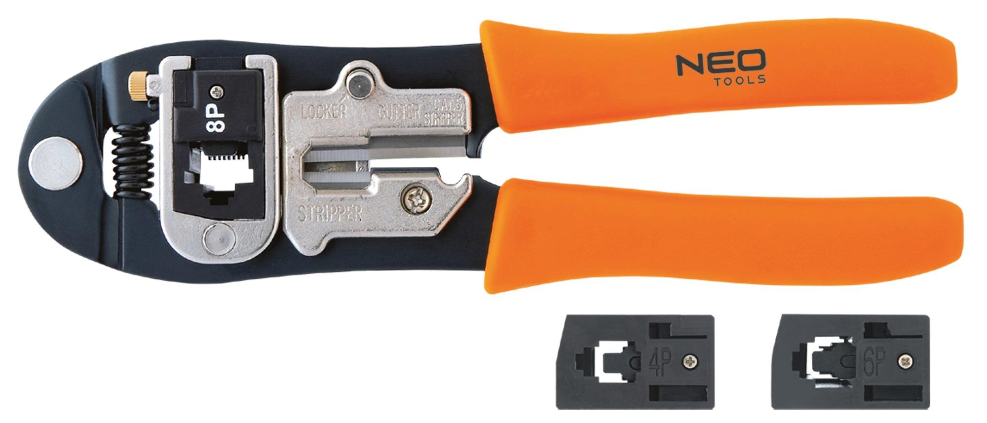 Neo Tools 01-501 Клiщi для обтискання телефонних наконечникiв 4P, 6P, 8P