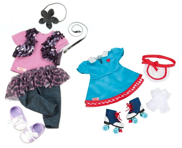 7a0b0040fdf1e4 Індивідуальна особливість ляльок Our Generation — дизайнерський одяг, який  поєднується з іншими деталями. Він постачається в різних візерунках і  дизайнах.