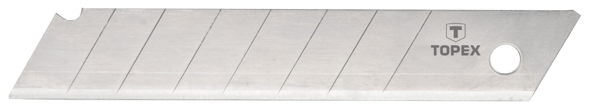 Topex 17B348 Лезвия, отламывающиеся, сменные, 18 мм, набор 10 шт.