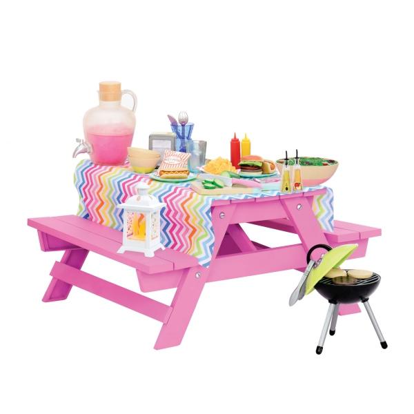 Our Generation Набор мебели - Стол для пикника с аксессуарами