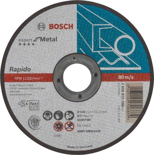 Bosch Відрізний круг Expert по металу 125 х 1мм, прямий
