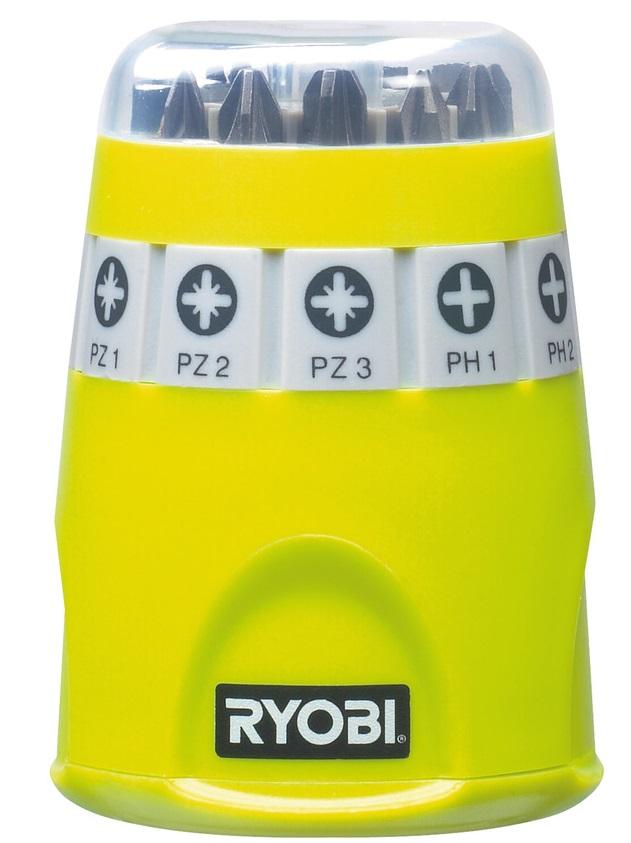 Ryobi Набір біт RAK10SD, 10 од., 9х25мм: PH1 / 2/3 / PZ1 / 2/3 /SL4.5/5.5/6.5, тримач 60мм