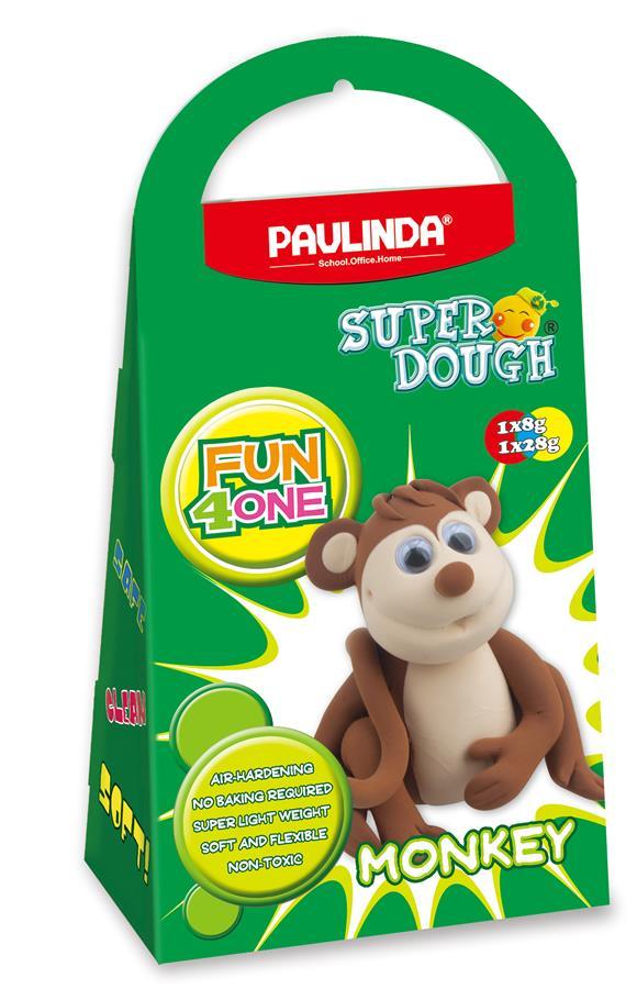 PAULINDA Маса для ліплення Super Dough Fun4one Мавпа (рухливі очі)