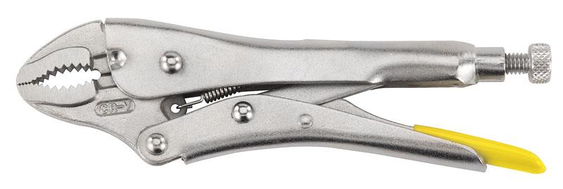 Stanley 0-84-809 Клещи (пинцы) с фиксатором 228мм изогн.губки (блистер)