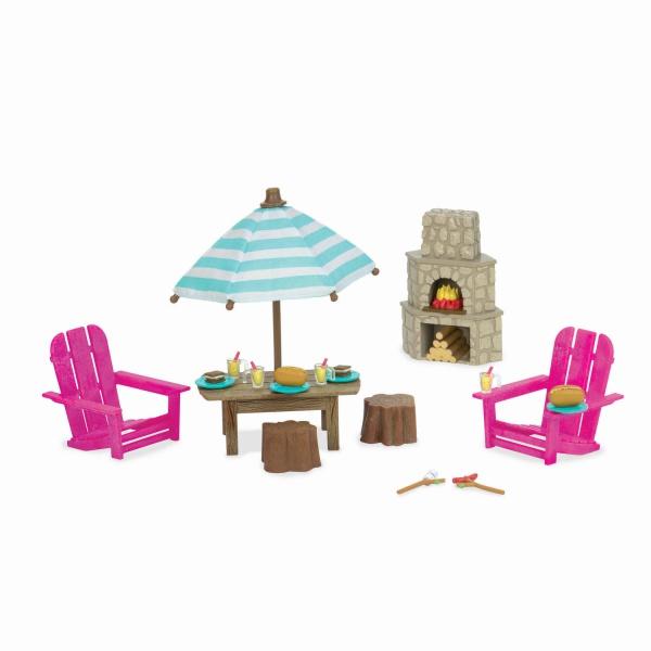 Li`l Woodzeez Игровой набор - Терраса и камин
