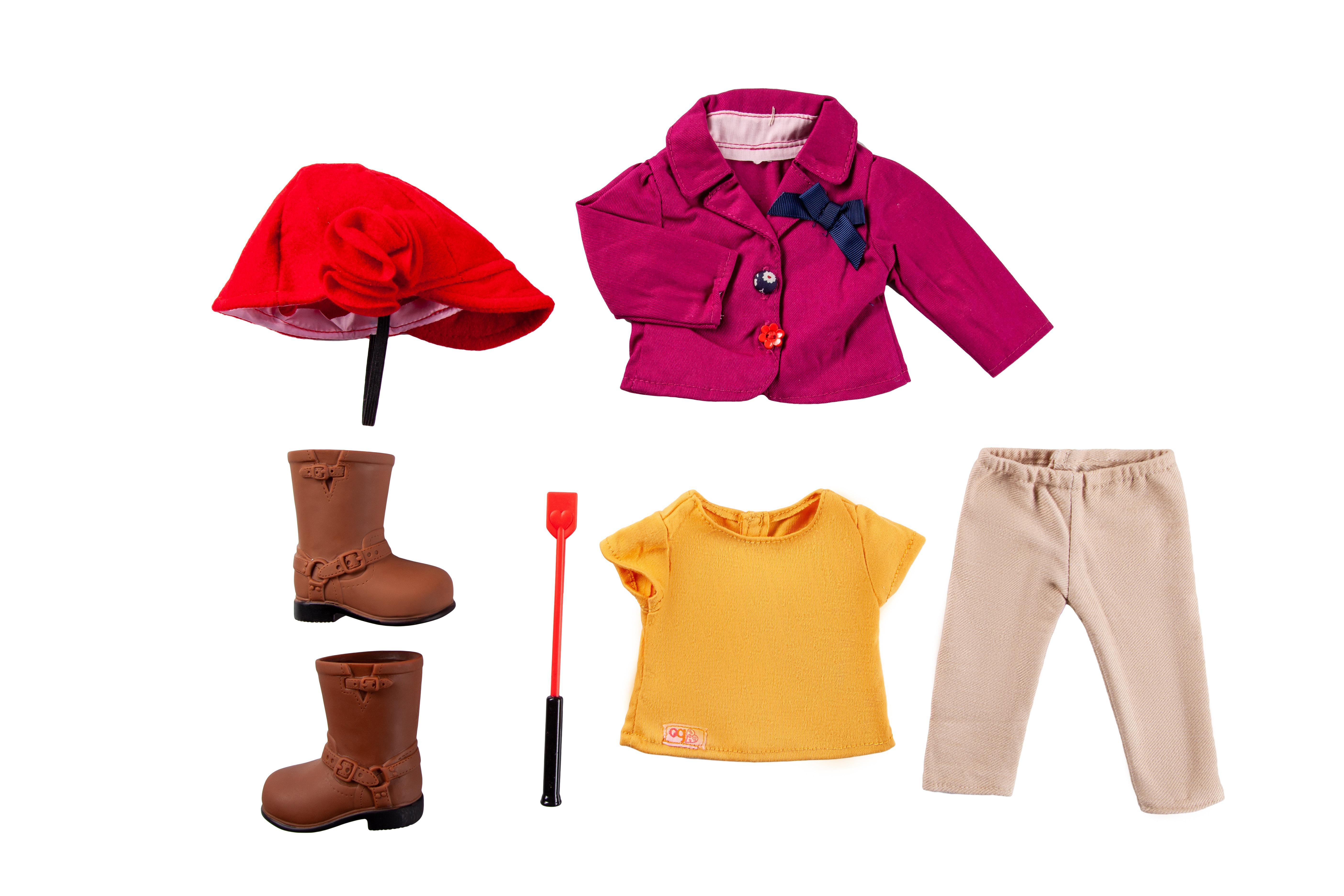 Our Generation Набір одягу для ляльок Deluxe для верхової їзди