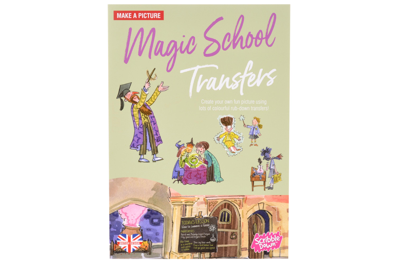 Scribble Down Перевідні і наклейки - Школа магії