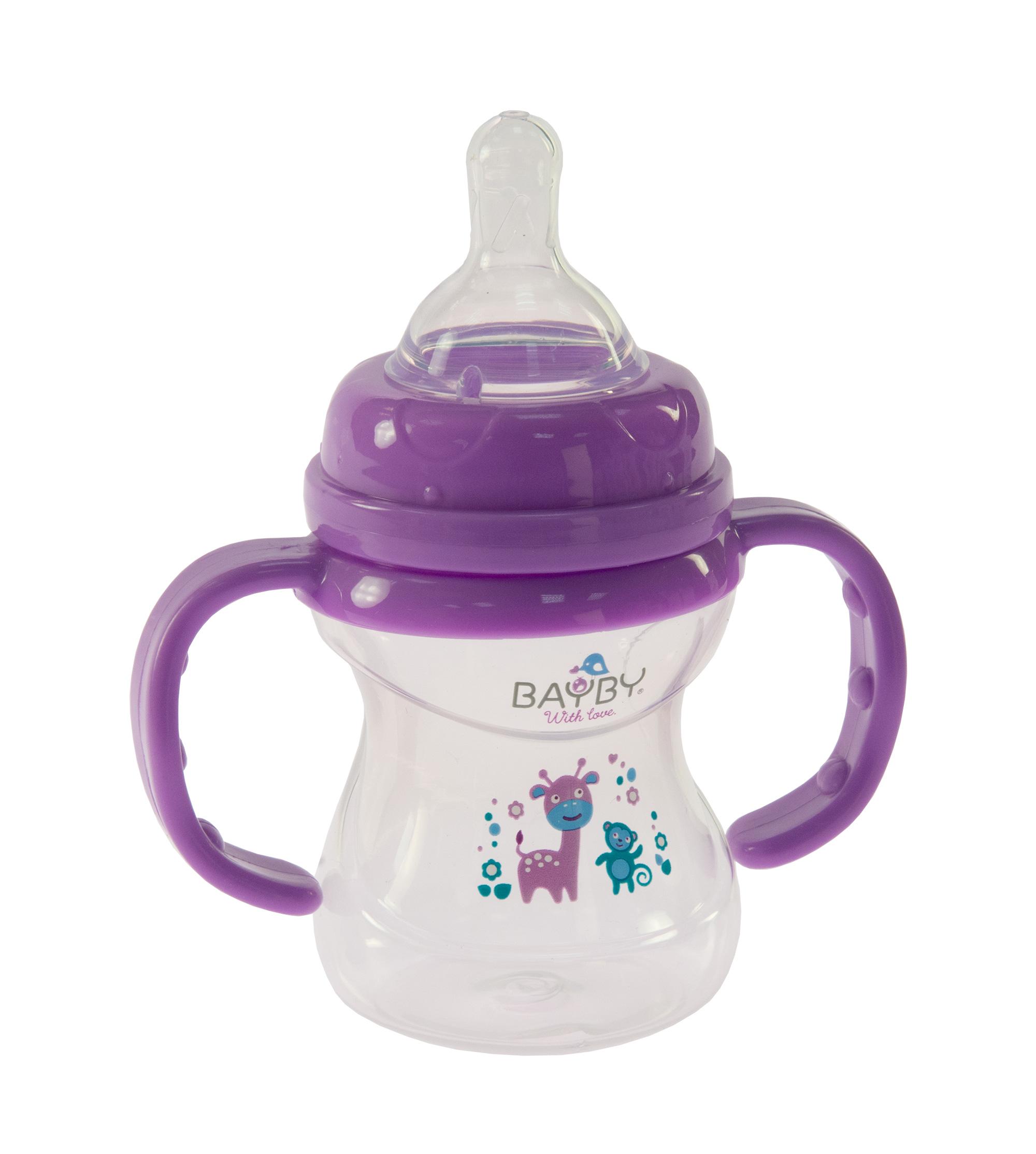 Bayby Бутылочка для кормления 150мл 6м+ фиолетовая