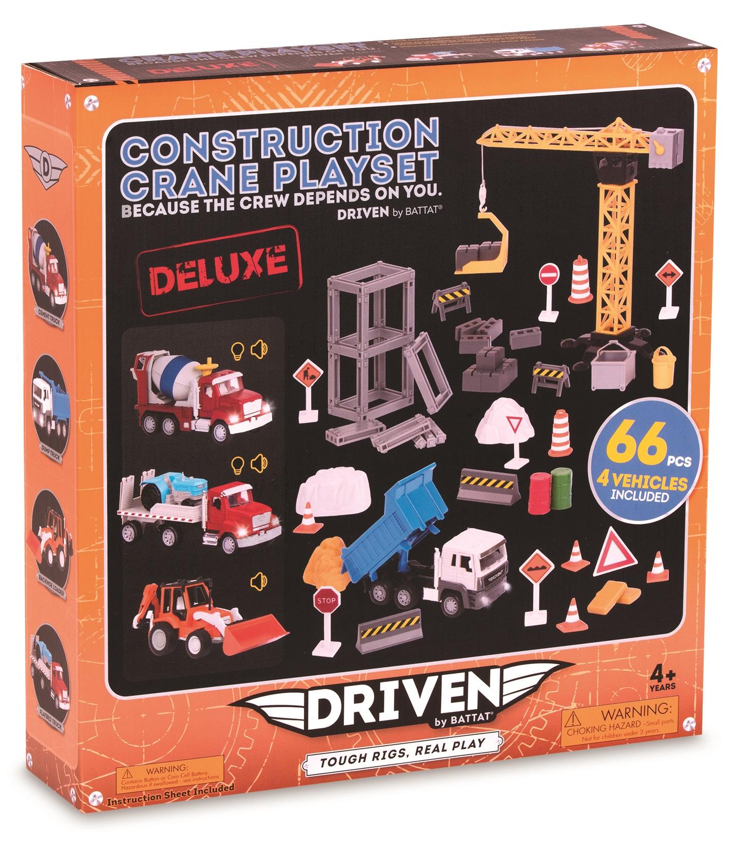 DRIVEN Ігровий набір Будівельний кран (66 ел.)