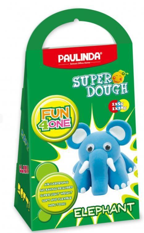 PAULINDA Маса для ліплення Super Dough Fun4one Слоник (рухливі очі)
