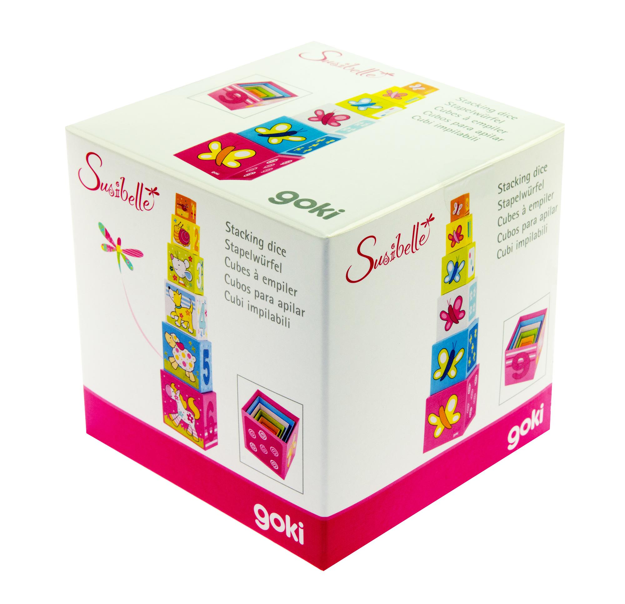 goki Кубики картонные Учимся считать