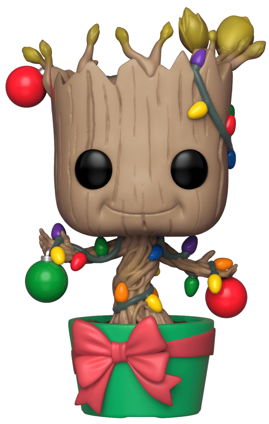 Funko Колекційна фігурка Funko Bobble: Marvel: Holiday: Groot w/ Lights & Ornaments 33982