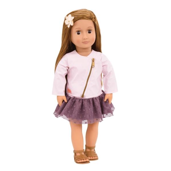 Our Generation Кукла Виена (46 см) в розовой кожаной куртке