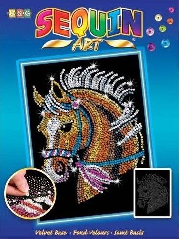 Sequin Art Набор для творчества BLUE Horse