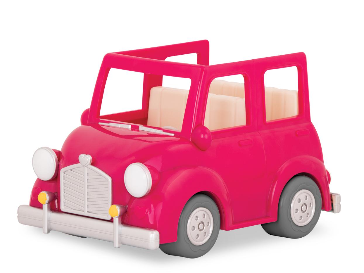 Li`l Woodzeez Транспорт - Розовая машина с чемоданом