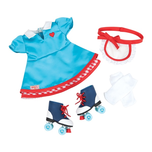 Our Generation Набір одягу для ляльок - Сукня з роликами