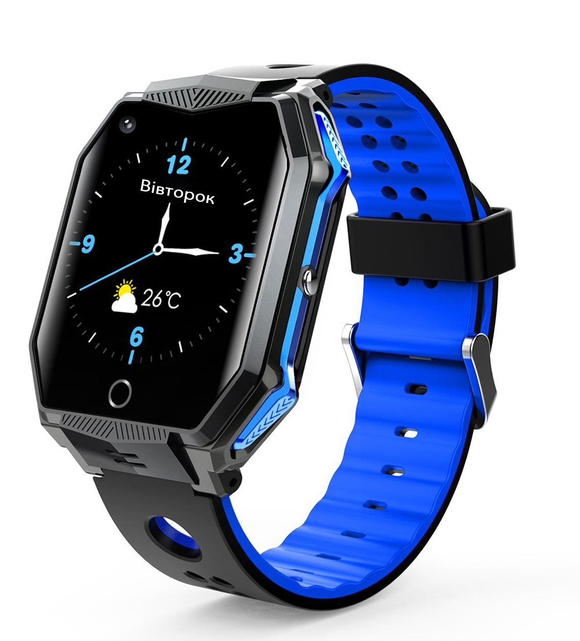 GoGPSme Детские телефон-часы с GPS трекером GOGPS ME X02[X02BL]