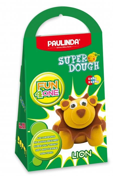 PAULINDA Масса для лепки Super Dough Fun4one Лев(подвижные глаза)