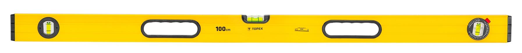 Topex 29C604 Рiвень алюмiнiєвий, тип 600, 100 см, 3 вiчка