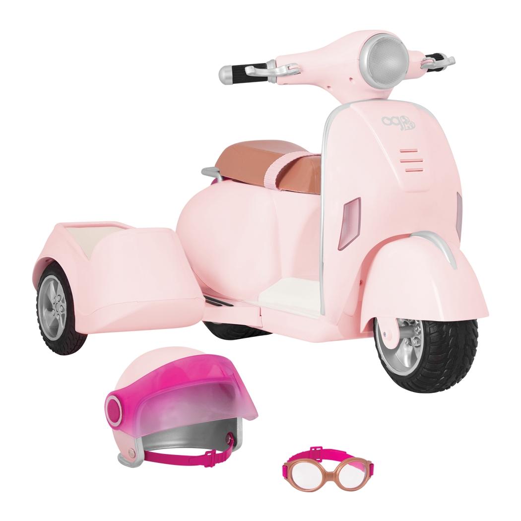 Our Generation Транспорт для кукол  - Скутер с боковой корзиной