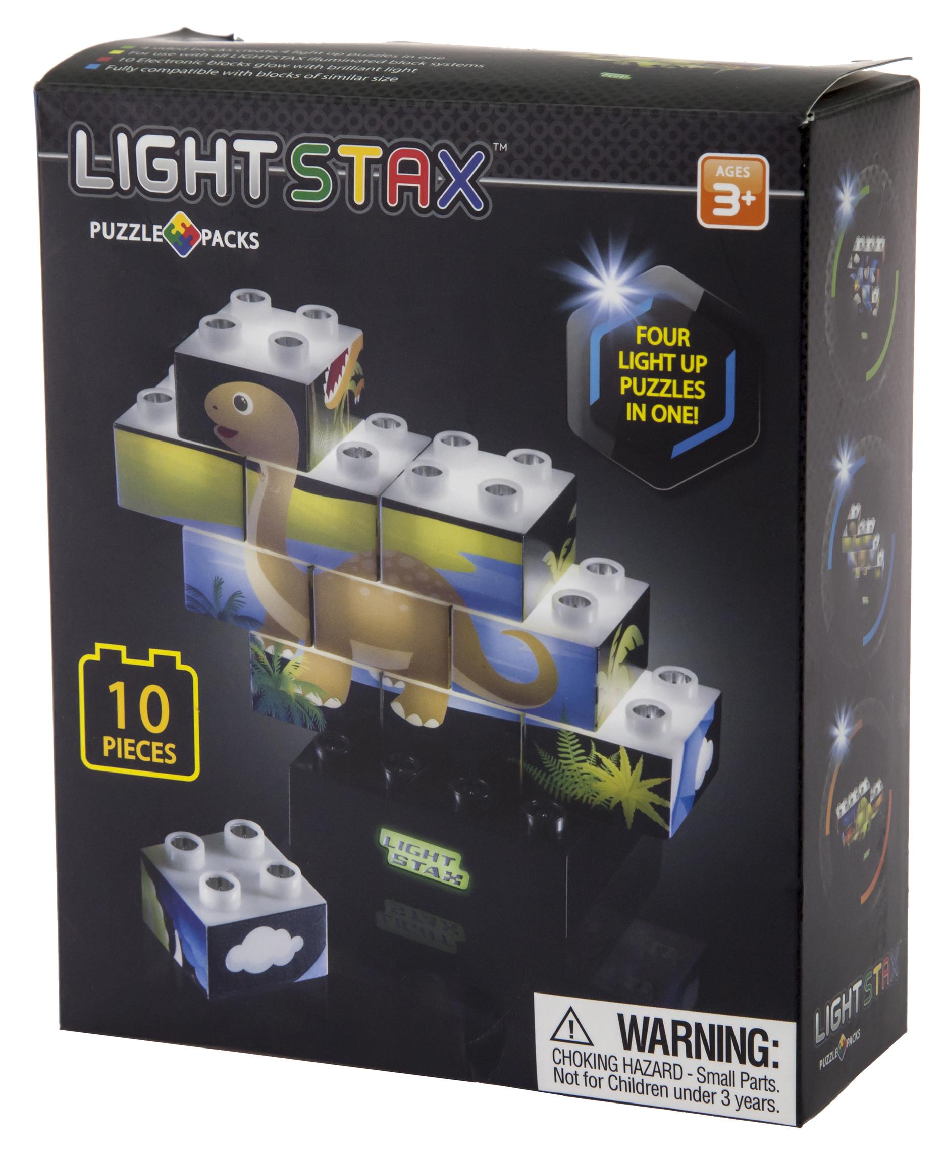 LIGHT STAX Конструктор Junior з LED підсвіткою Пазл Динозаври M03004