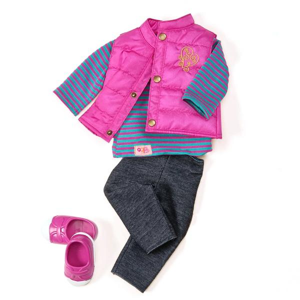 Our Generation Набір одягу для ляльок - Пухнастий жакет